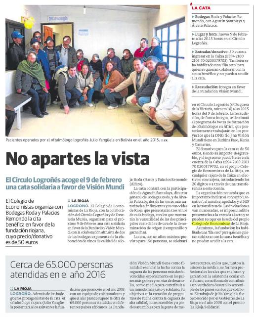 Noticia Fundación Visión Mundi